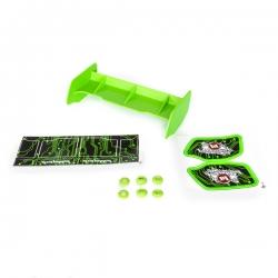 Aileron buggy 1/10 plastique vert+stickers