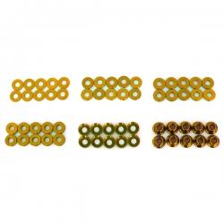 Set de rondelle et écrou en alu anodisée Or (60pcs)
