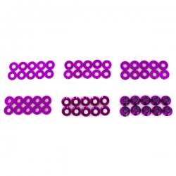 Set de rondelle et écrou en alu anodisée violet (60pcs)
