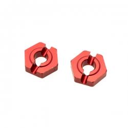 Hexagone de roue avant alu clavette 2mm