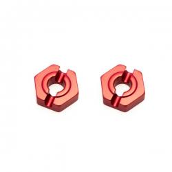 Hexagone de roue arriere alu clavette 2mm