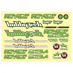 Planche stickers Revolt BX10 4.0  Vert